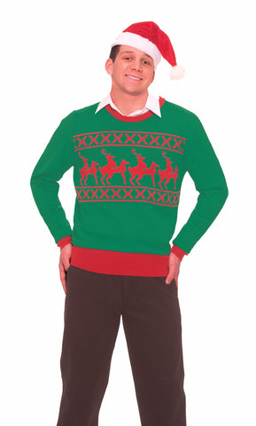 Adults Reindeer Games Christmas Sweater - HalloweenCostumes4U.com - Adult Costumes