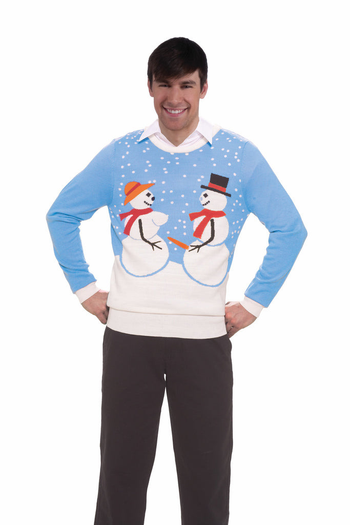 Christmas Sweater Snow Couple - HalloweenCostumes4U.com - Holidays