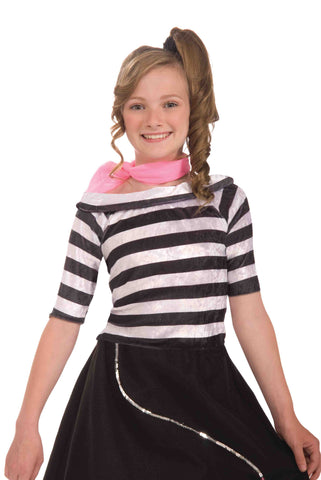 Girls Sock Hop Top - HalloweenCostumes4U.com - Kids Costumes