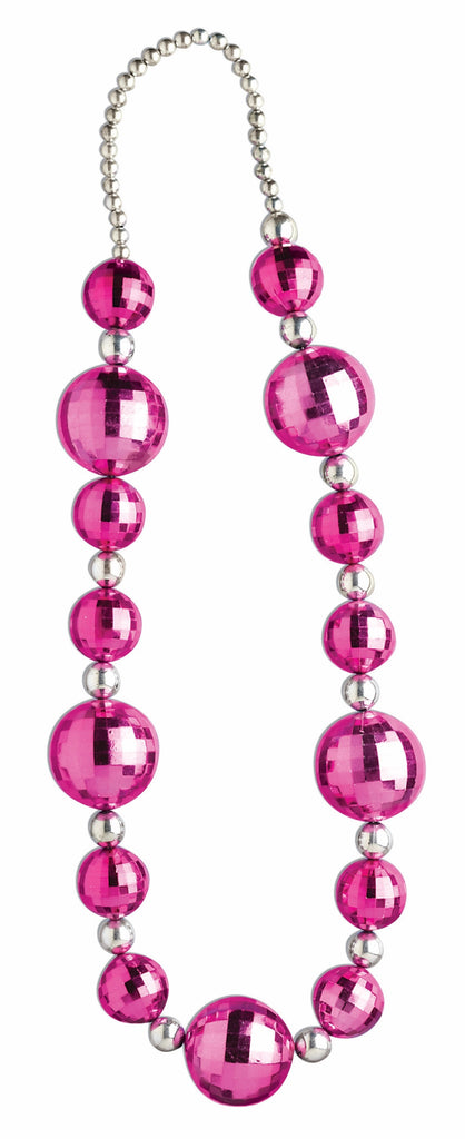 Pink & Silver Graduated Beads - HalloweenCostumes4U.com - Accessories