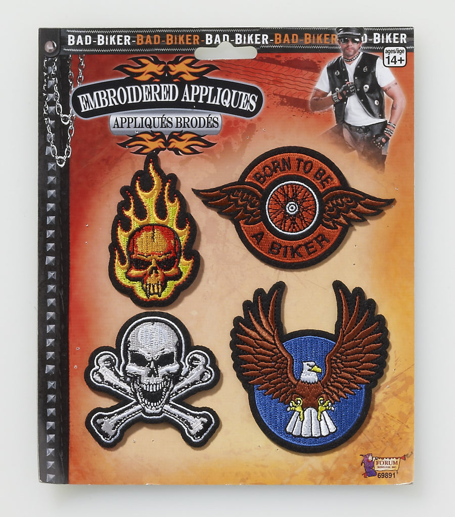 Bad Biker Appliques - HalloweenCostumes4U.com - Accessories