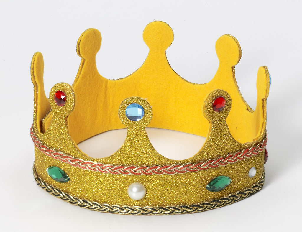 Queen Crown W/Gold Glitter - HalloweenCostumes4U.com - Accessories