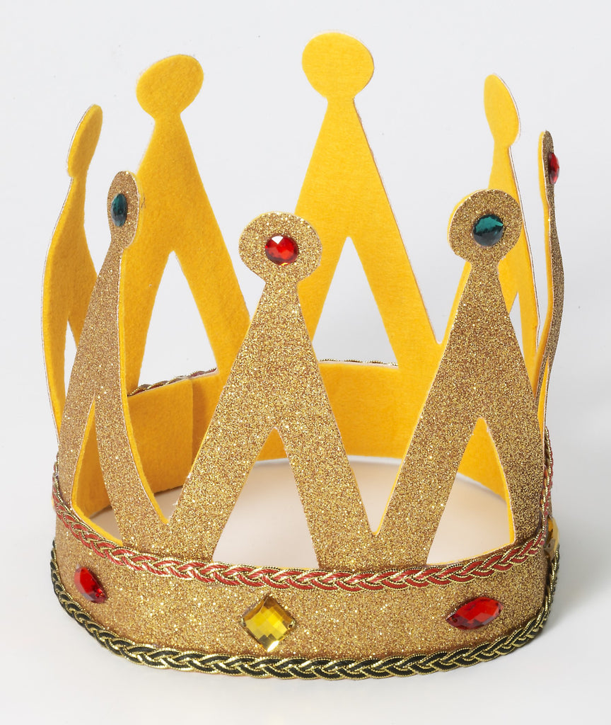 King Crown W/Gold Glitter - HalloweenCostumes4U.com - Accessories