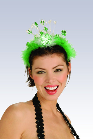 St. Patricks Day Shamrock Tiara - HalloweenCostumes4U.com - Accessories