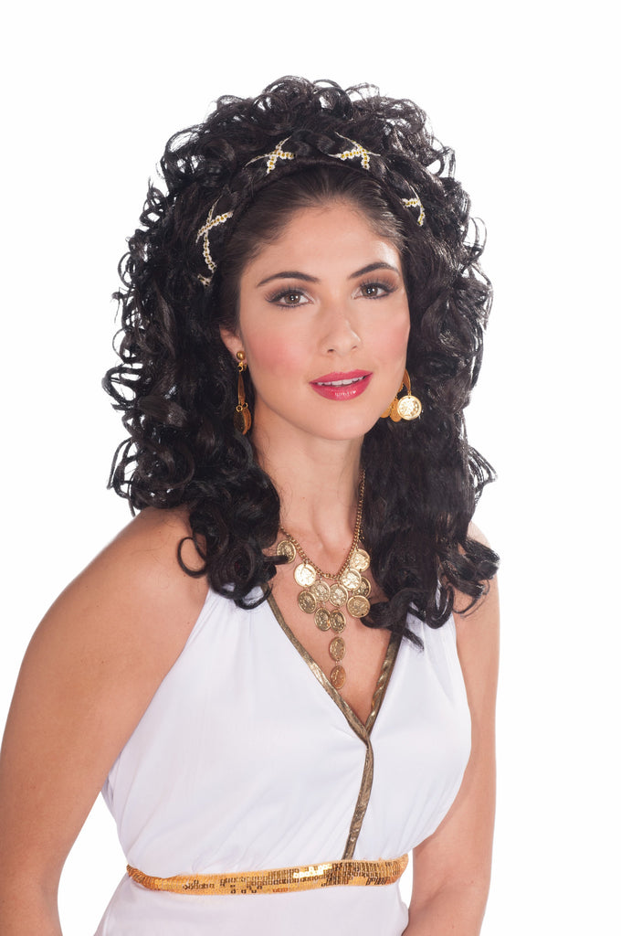 Wig-Roman Goddess-Black - HalloweenCostumes4U.com - Accessories