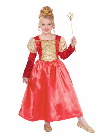 Girls Golden Garnet Princess Costume - HalloweenCostumes4U.com - Kids Costumes