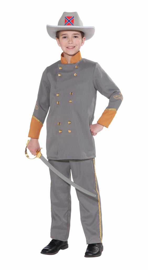 Boys Confederate Officer Costume - HalloweenCostumes4U.com - Kids Costumes