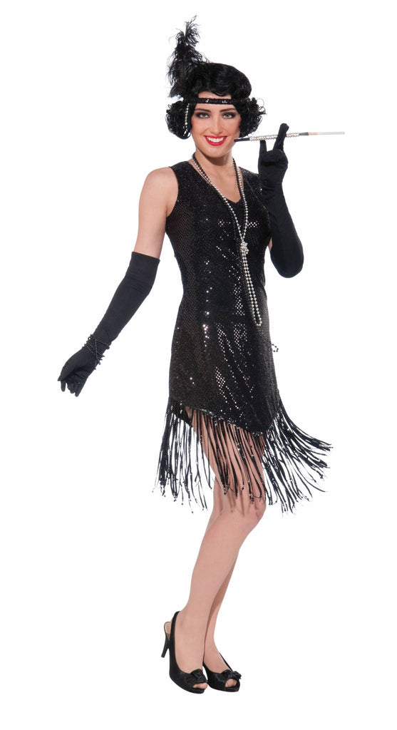 Costume-Swingin' In Sequins-Black - HalloweenCostumes4U.com - Costumes