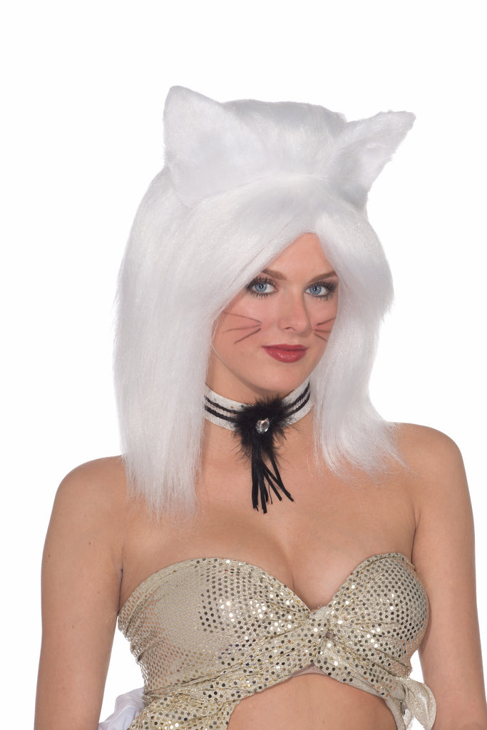 Wig-Feline Fantasy-White - HalloweenCostumes4U.com - Accessories