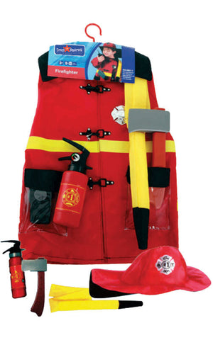 Kids Fire Fighter Dress Up Set - HalloweenCostumes4U.com - Kids Costumes - 2
