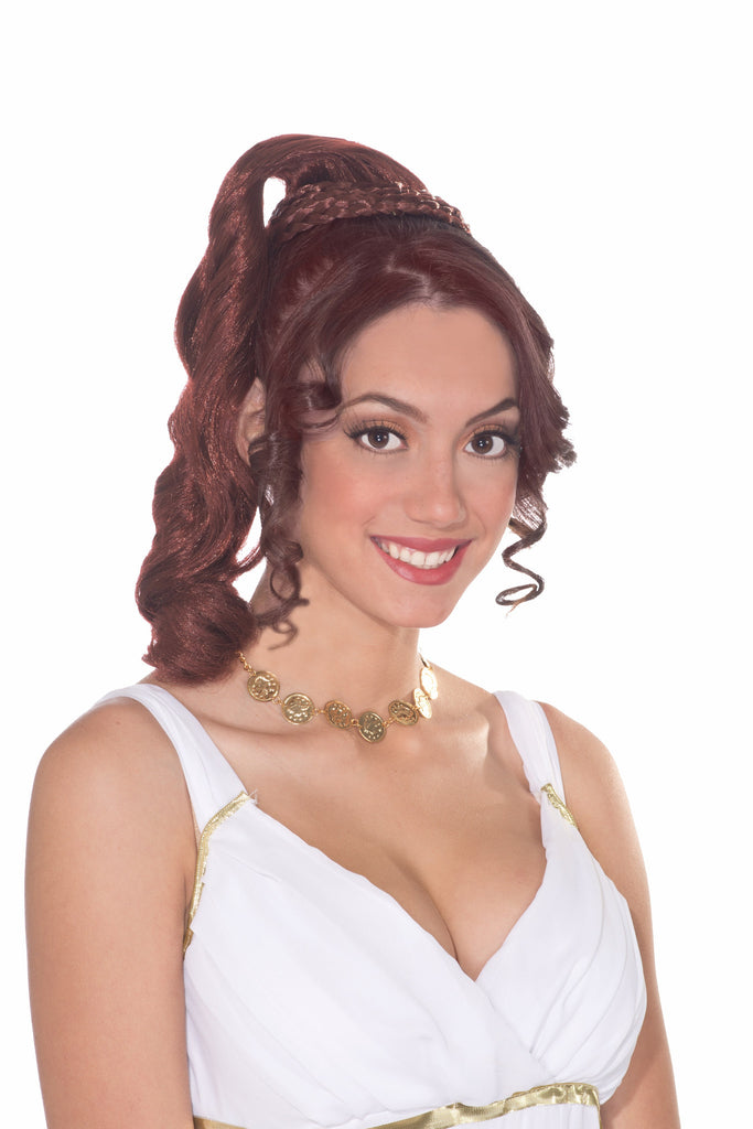 Wig-Goddess Hairpiece-Auburn - HalloweenCostumes4U.com - Accessories