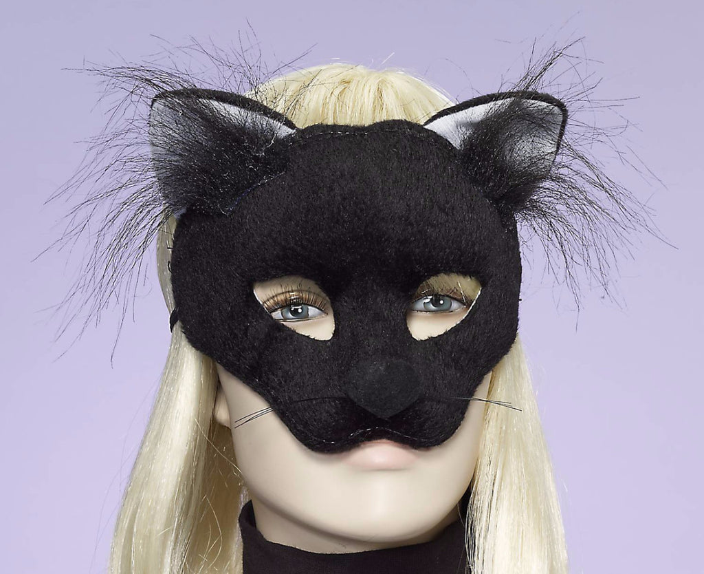 Black Cat Half Mask - HalloweenCostumes4U.com - Accessories