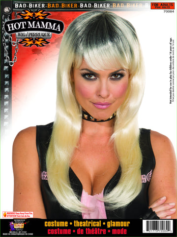 Wig-Hot Bad Biker Mamma - HalloweenCostumes4U.com - Accessories
