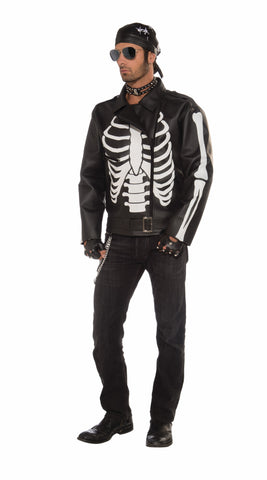 Mens Bad Biker Skeleton Jacket - HalloweenCostumes4U.com - Adult Costumes