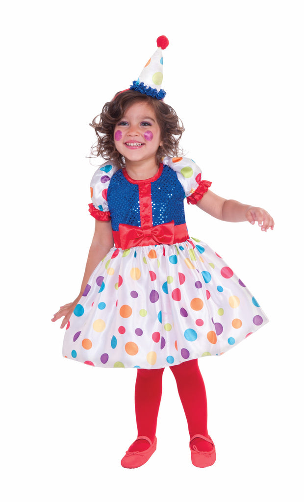 Girls Dottie The Clown Costume - HalloweenCostumes4U.com - Kids Costumes