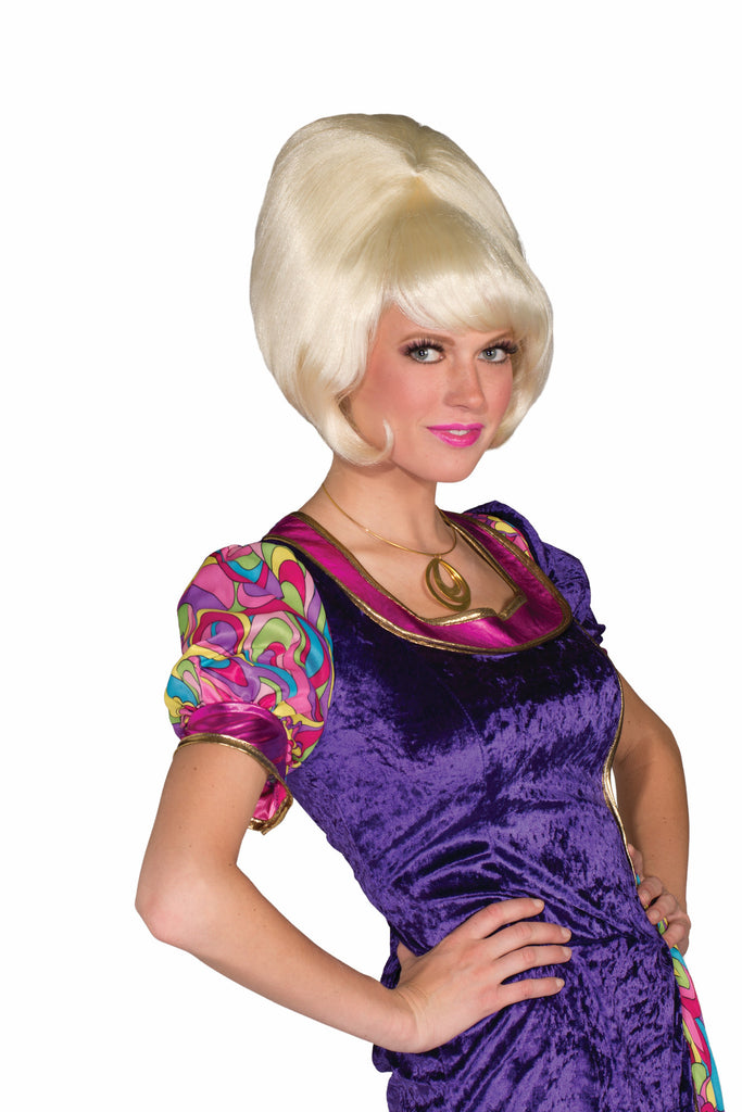 Wig-Bubble Blonde Bouffant - HalloweenCostumes4U.com - Accessories