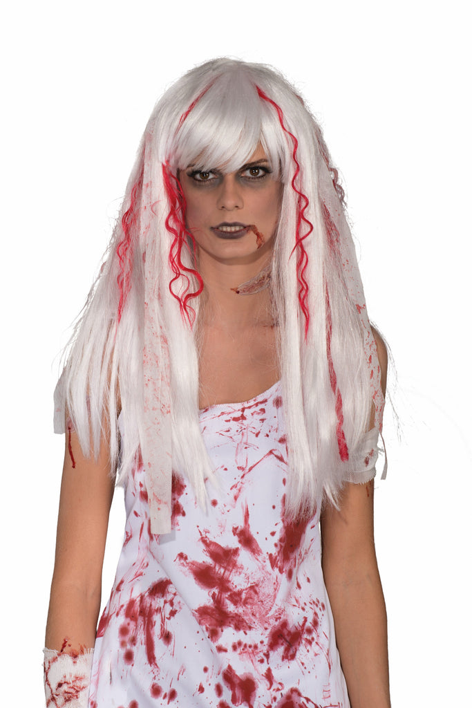 Wig-Bloody Streaks & Splatters - HalloweenCostumes4U.com - Accessories