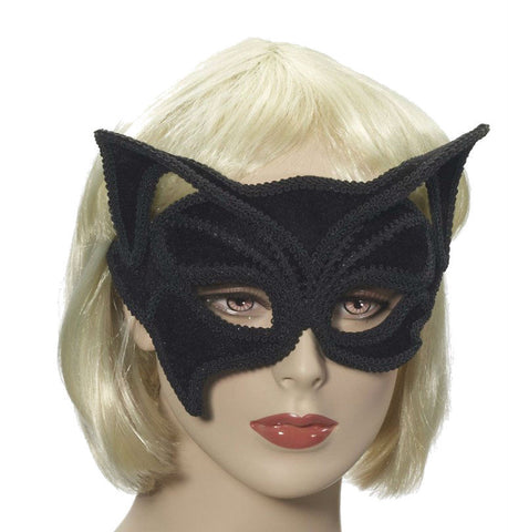 Black Cat Half Mask On Glasses