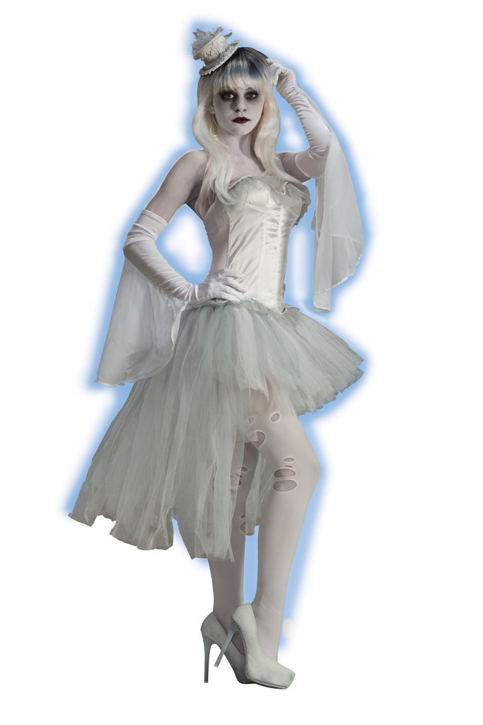 Ghost-Flutter Gloves - HalloweenCostumes4U.com - Accessories