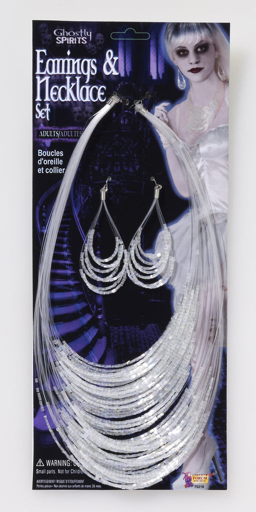 Ghost Earrings & Necklace Set - HalloweenCostumes4U.com - Accessories