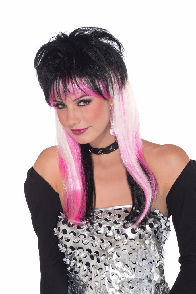 Wig-Ravin-Black/Pnk/Wht - HalloweenCostumes4U.com - Accessories