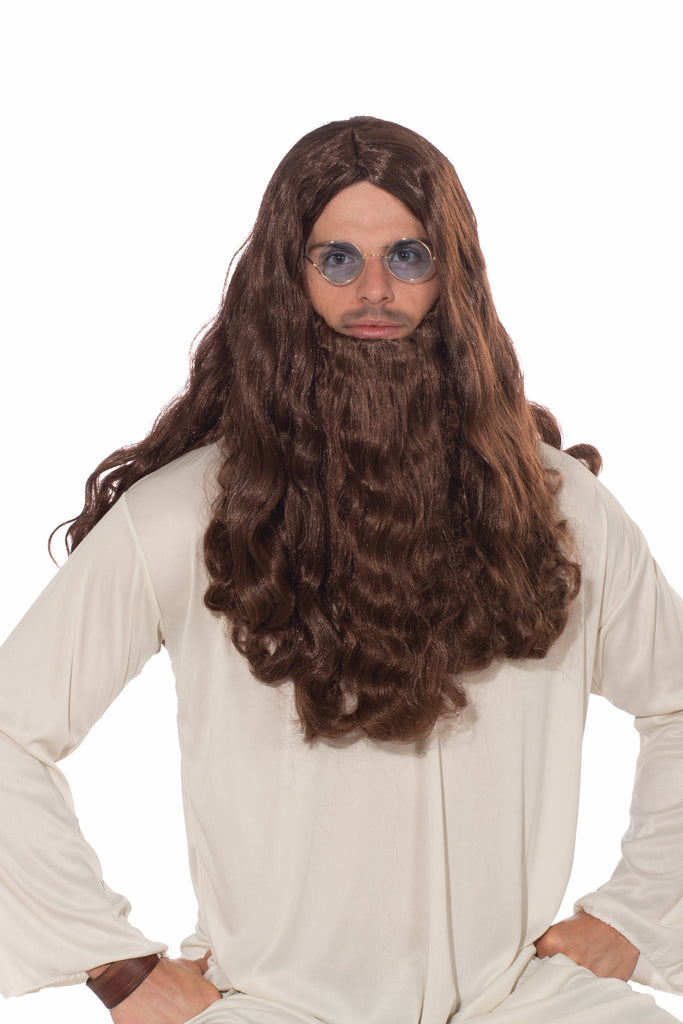 Wig-Guru-Vy-Long Hair & Beard - HalloweenCostumes4U.com - Accessories