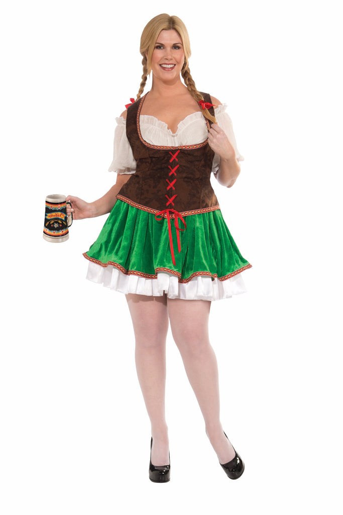 Costume-Buxom Beer Garden Girl-Plus - HalloweenCostumes4U.com - Costumes