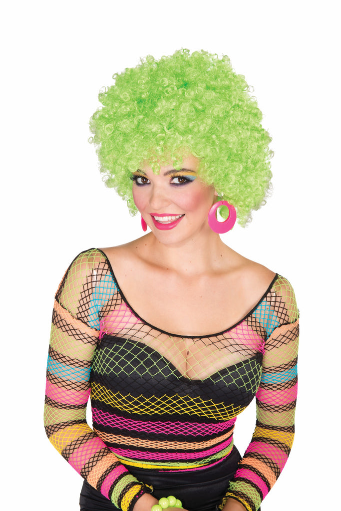 Wig-Afro-Neon Green