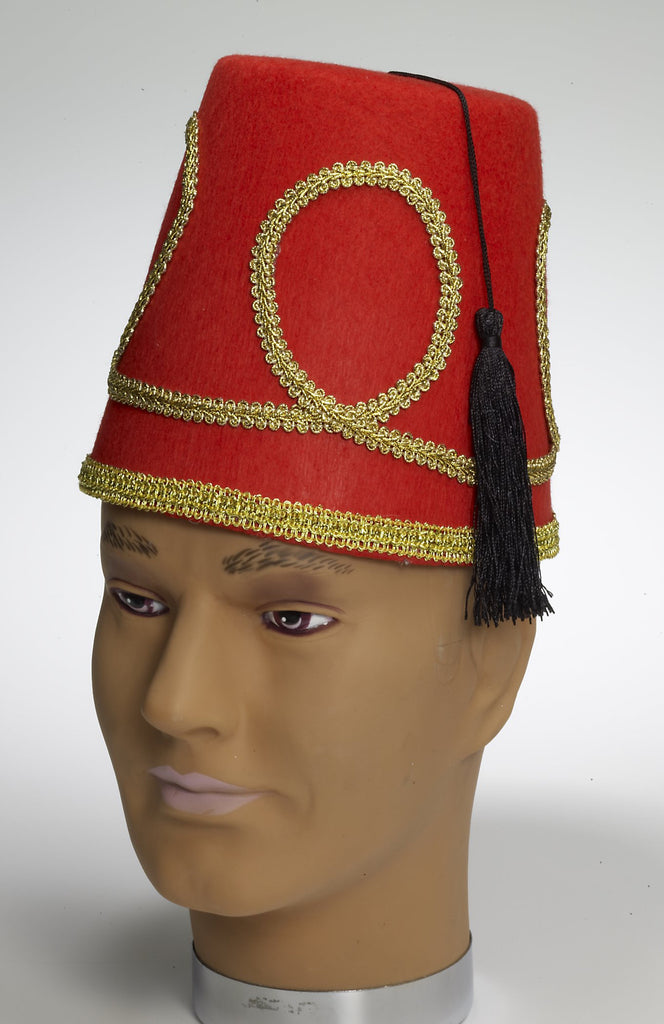 Deluxe Red Fez Hat - HalloweenCostumes4U.com - Accessories