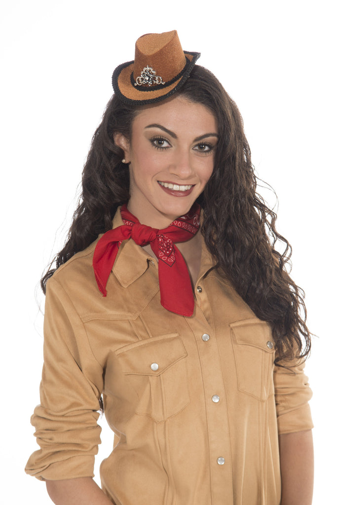 Mini-Cowboy Hat W/Clips-Tan - HalloweenCostumes4U.com - Accessories