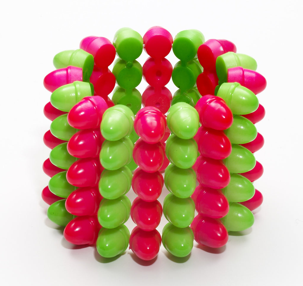 Spike Bracelet (Green/Pink) - HalloweenCostumes4U.com - Accessories