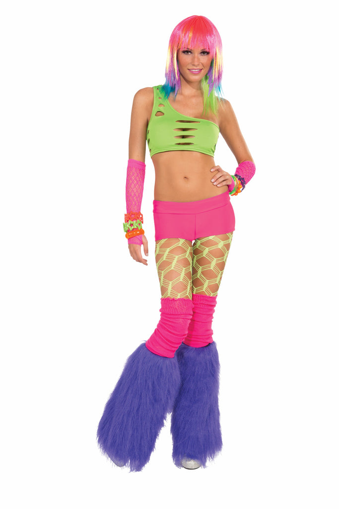 Neon Solid Booty Shorts-Pink - HalloweenCostumes4U.com - Accessories