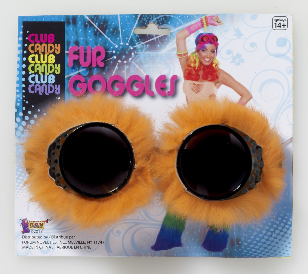 Fur Goggles-Orange - HalloweenCostumes4U.com - Accessories
