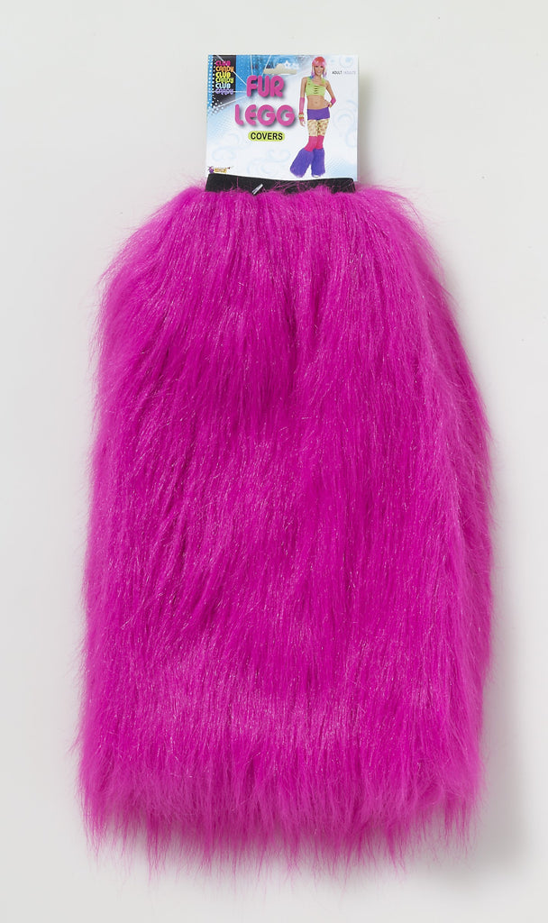 Club Candy Fur Leg Covers-Pink - HalloweenCostumes4U.com - Accessories