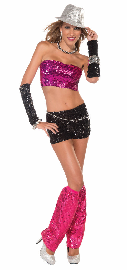 Tube Top-Magenta Sequin - HalloweenCostumes4U.com - Accessories