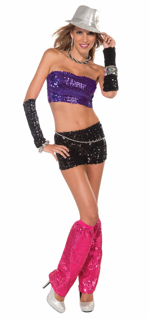 Tube Top-Purple Sequin - HalloweenCostumes4U.com - Accessories