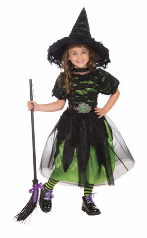 Girls Mysteria the Witch Costume - HalloweenCostumes4U.com - Infant & Toddler Costumes