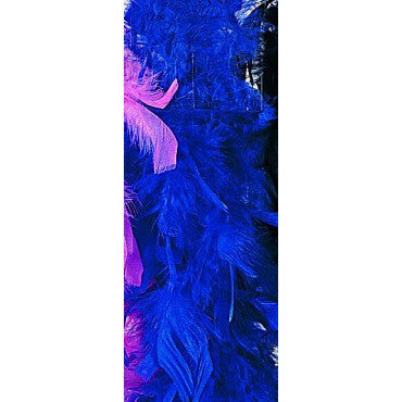 Royal Blue Turkey Feather Boa - HalloweenCostumes4U.com - Accessories