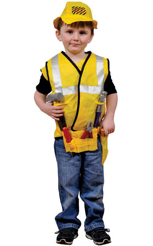 Boys Construction Worker Dress Up Set - HalloweenCostumes4U.com - Kids Costumes
