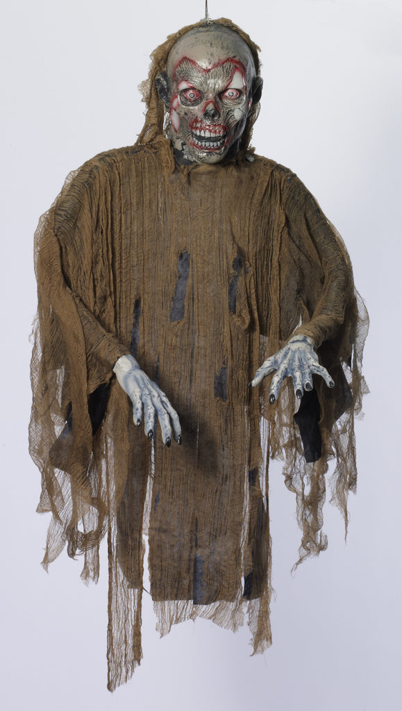 Prop-Hanging Zombie-Brown - HalloweenCostumes4U.com - Decorations