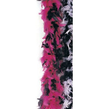 Black & Pink Turkey Feather Boa - HalloweenCostumes4U.com - Accessories