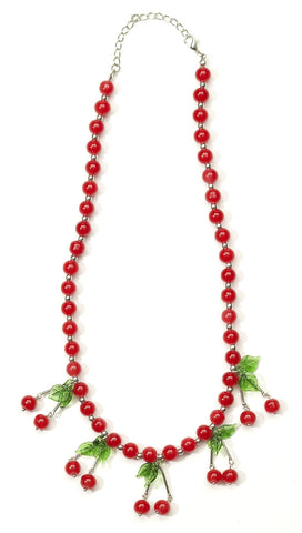 Retro Rock Cherry Necklace - HalloweenCostumes4U.com - Accessories