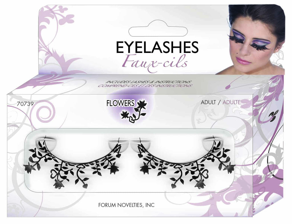 Paper Eyelashes-Flowers - HalloweenCostumes4U.com - Accessories