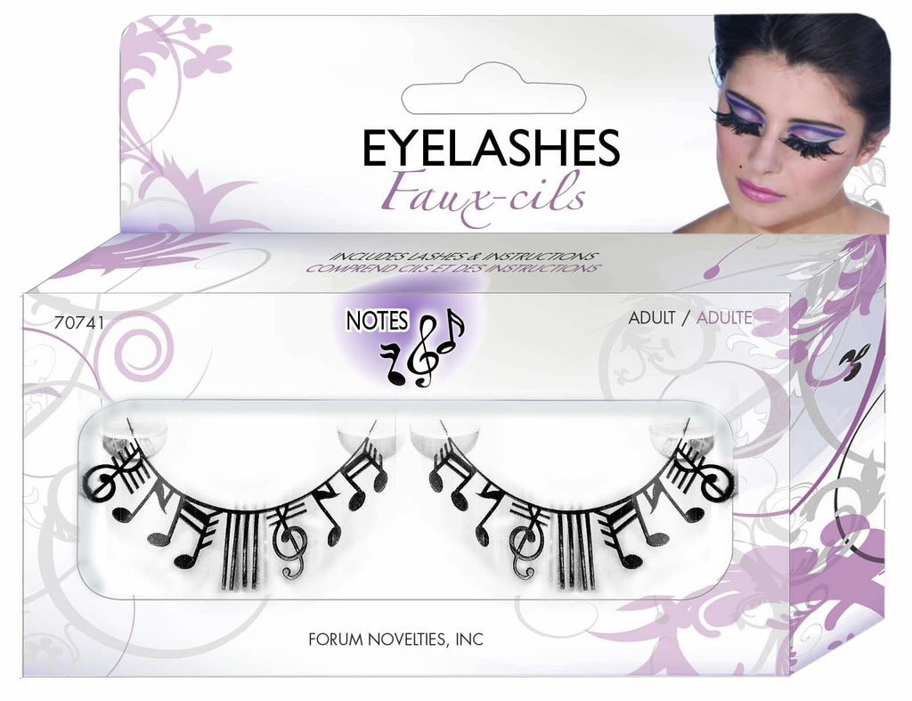 Paper Eyelashes-Music Notes - HalloweenCostumes4U.com - Accessories