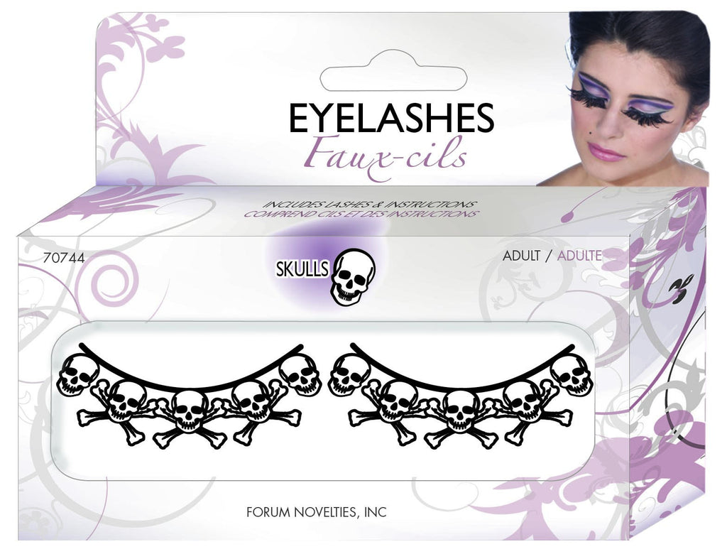 Paper Eyelashes-Skulls - HalloweenCostumes4U.com - Accessories