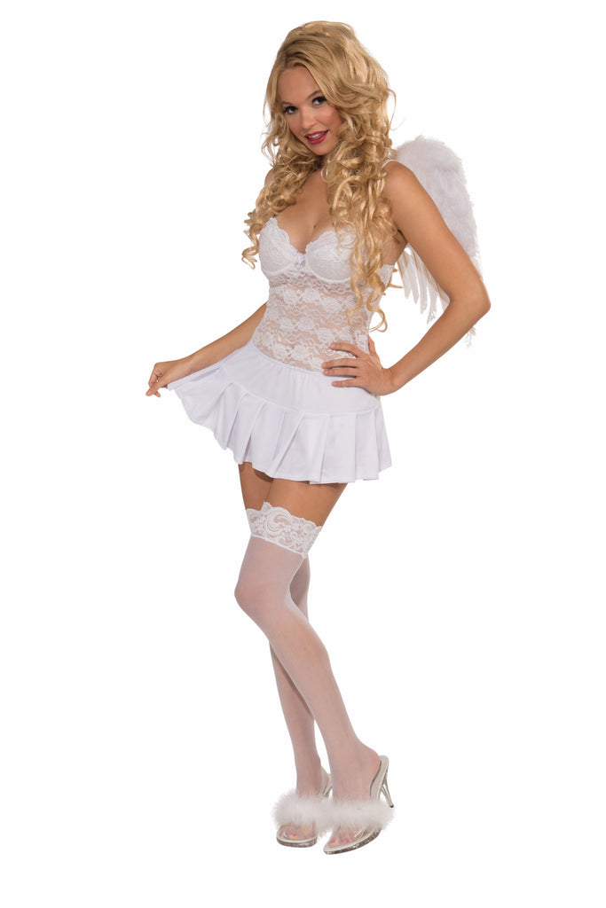 Mini Skirt-White - HalloweenCostumes4U.com - Accessories