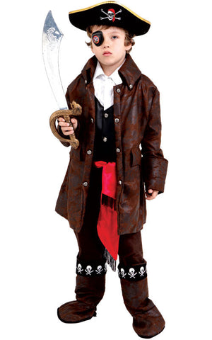Boys Deluxe Caribbean Pirate Costume - HalloweenCostumes4U.com - Kids Costumes