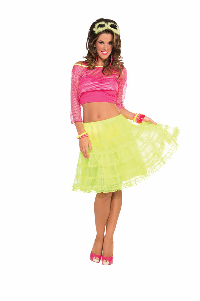 Underskirt-Neon Yellow - HalloweenCostumes4U.com - Accessories