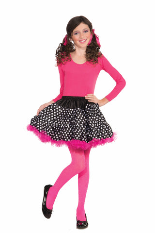 Girls Black & White Polka Dot Tutu - HalloweenCostumes4U.com - Accessories