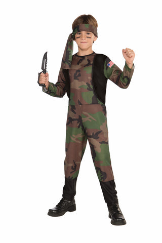Boys Army Soldier Costume - HalloweenCostumes4U.com - Kids Costumes